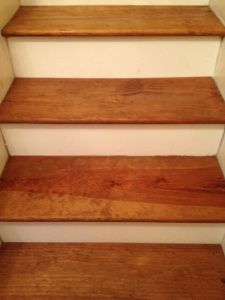 treads stained pine stair diy pine basement stairs stair treads house