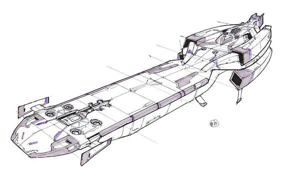 Spaceship #15 by chromaTinker on DeviantArt