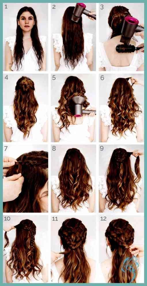 Lange haare frisuren frauen locken