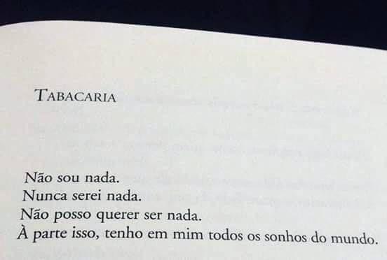 Trecho Do Poema Tabacaria De álvaro De Campos No Livro Poemas Poemas Poema Citações