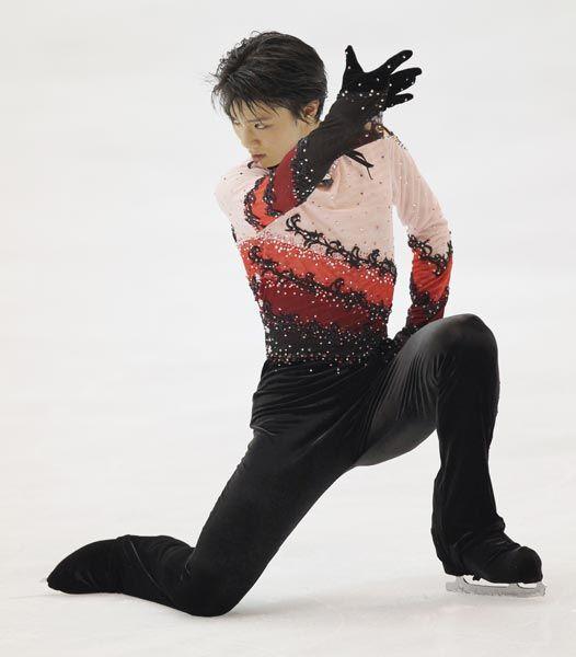 NHK杯男子フリーで演技する羽生結弦(愛知・日本ガイシアリーナ)(2010年10月23日) 【時事通信社】