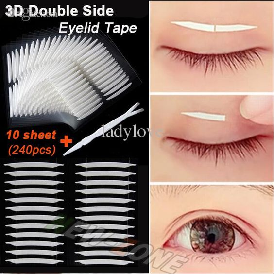 Einzigartige Sharp Abgewinkelt 3d Double Sided Invisible Augenlid Band Strong Adhesive Augenlid Aufkleber Geschenk