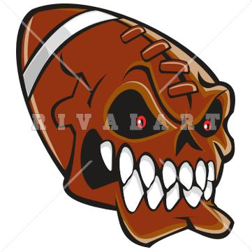 Sports Clipart Image of A Colored Football Graphic | Football Clip ...