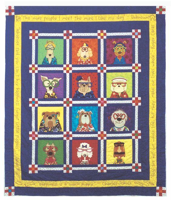 Amy Bradley Designs Dazzling Dogs quilt pattern