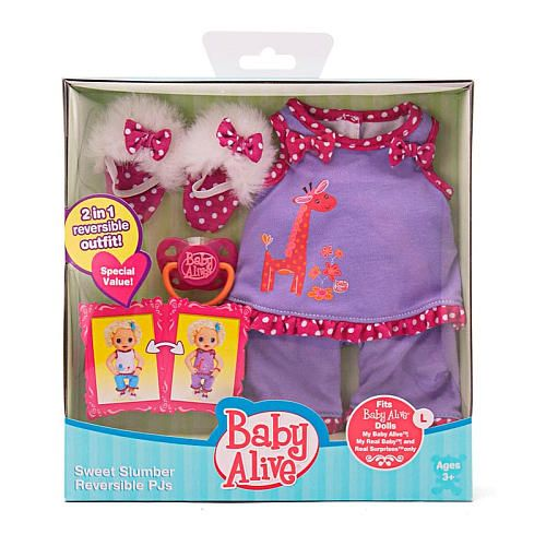 Baby Alive Reversible Pajamas Set Sweet Slumber