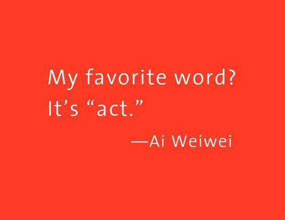 LIvro de Ai Weiwei. Super bacana, com frases muito bem colocadas. Mais em www.hardecor.com.br