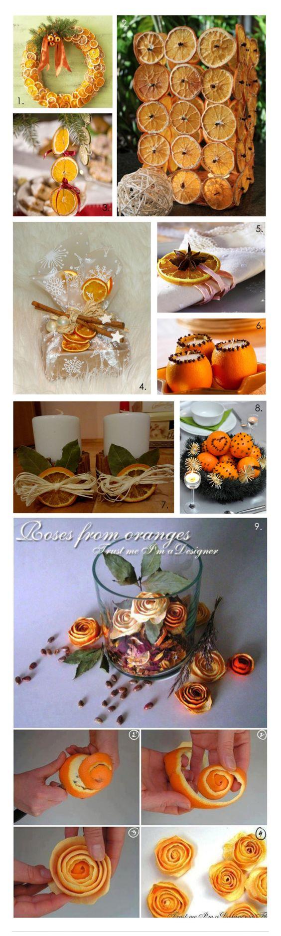 Pomysły na ozdoby z pomarańczy