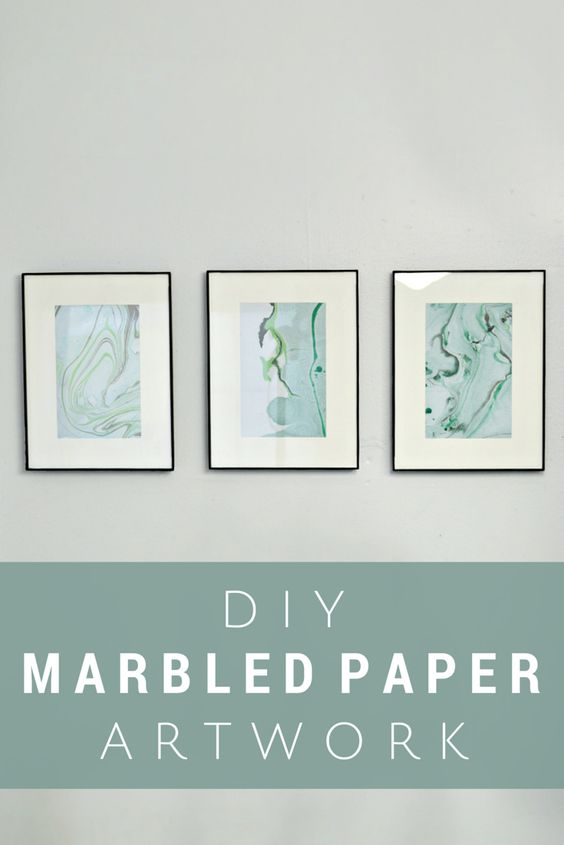 Marbled Paper Art Using Nail Polish Mad In Crafts