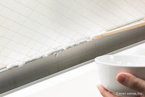 ゴムパッキンのカビの取り方は ティッシュパック が正解 カビ 浴室 風呂 ゴムパッキン 掃除 きれい 浴室 カビ カビ パッキン カビ