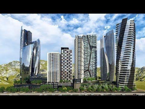 México Monterrey Santa María Proyecto En Construcción City Center Construccion Arquitectura Torres