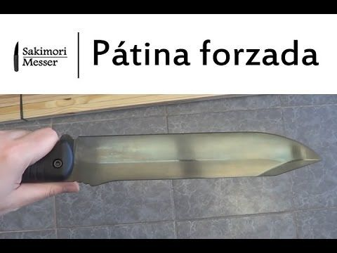 Patina Forzada En Cuchillos Youtube Cuchillos Cuchillos Artesanales Patina