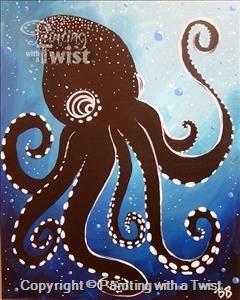 Aboriginal octopus orlando fl universal studios area for Painting with a twist arizona
