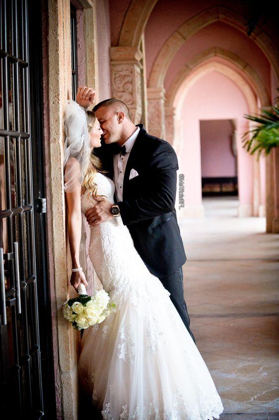 Photo by Michelle Lawson Photography. I love this moment caught on photo ♥ newly wed kiss #wedding #weddingideas #inlove #weddingdress #brideandgroom #weddingdressideas #mstriciasfl #blushweddingdress #pinkweddingdress #MaggieSottero #designerweddingdress #bocaresort #laceweddingdress