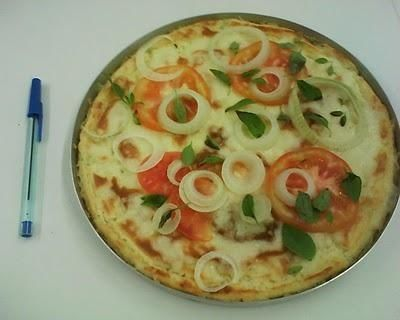 Receita de Pizza de arroz.