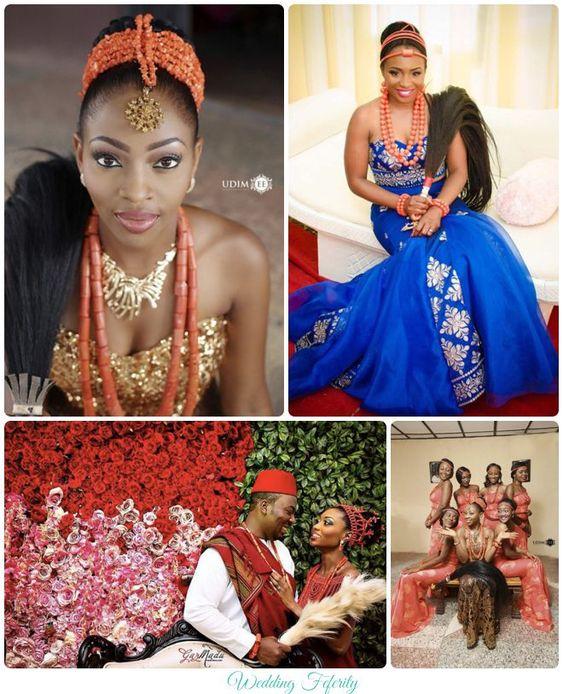 Nigerian Wedding Bridesmaids: Brides, Grooms And Bridesmaids