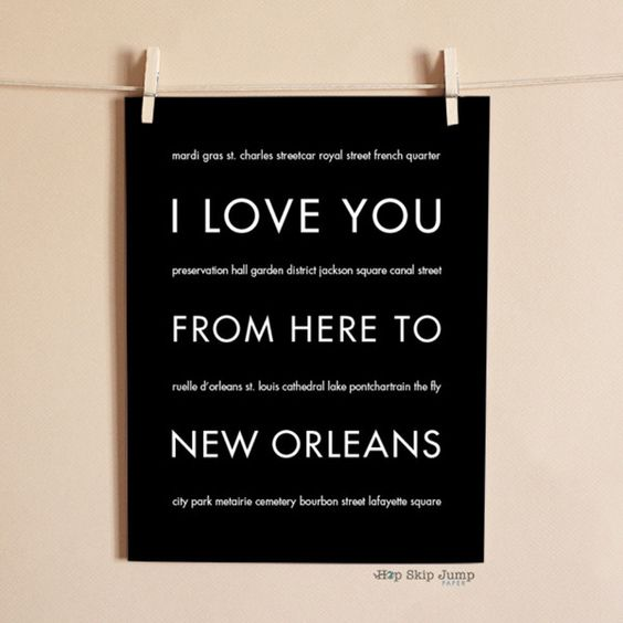 Whether you spent a wild Mardi Gras in this Louisiana city or have family memories here never forget those memories with this unique modern art poster. This typ