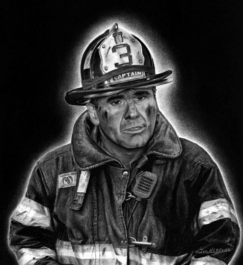 """My hero is FDNY Captain Patrick Brown. """"On September 11, 2001, Patrick and eleven men from Ladder 3 responded to the attacks at the World Trade Center. Along with so many other rescue workers, the men of Ladder 3 participated in perhaps the most successful rescue effort in U.S. history. These rescue workers, at their own peril, managed to safely evacuate over 25,000 people from those burning towers."""" -Cea"""