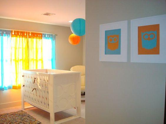 Stunning Chambre En Orange Et Bleu Turquoise Pictures ...