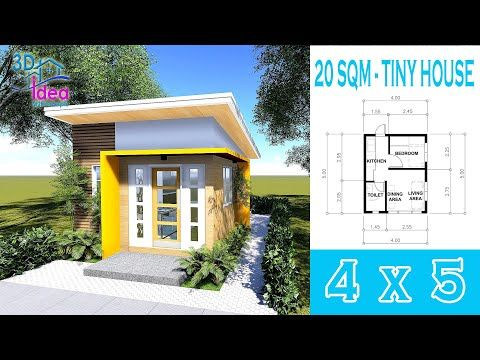 13 Small House Design Idea 4 X 5 Bungalow Tiny House Youtube Small House Design Loft House Design Tiny House Design