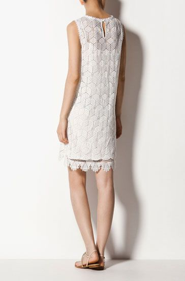 Fun white summer dress by Massimo Dutti