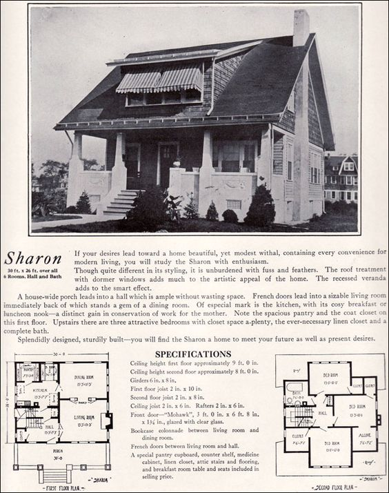 1920s bungalow with shed dormer 1922 bennett homes for Dormer bungalow floor plans