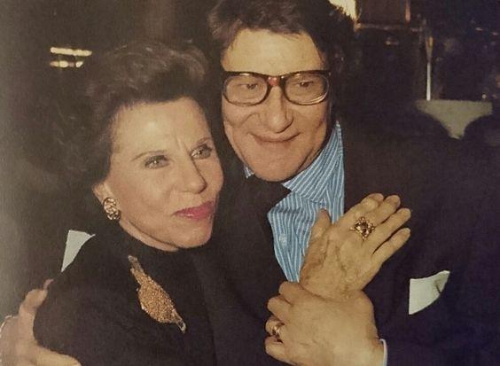 Lucienne Mathieu Saint Laurent et Yves en Janvier 1989