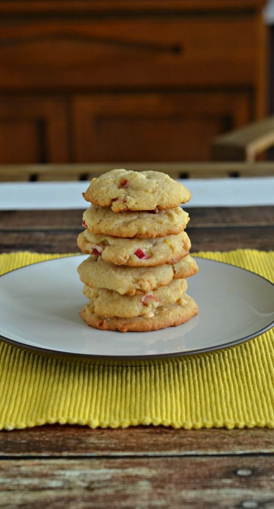 Delicious Sweet And Tart Lemon Rhubarb Cookies Recipe Healthyfoodtomake In 2020 Rhubarb Cookies Rhubarb Recipes Rhubarb Desserts