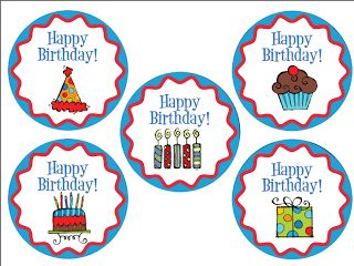 Classroom Freebies Too: Birthday Labels