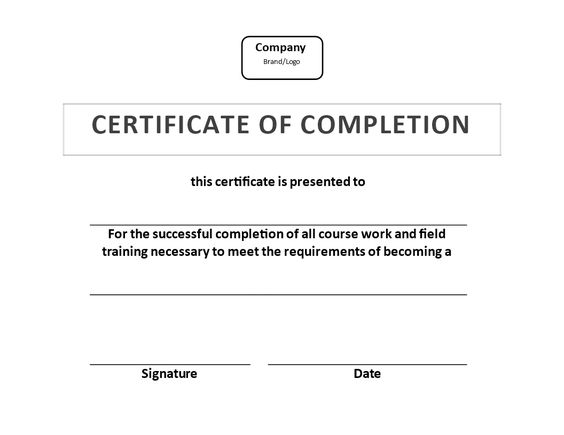Training Certificate of Completion template - Training Certificate - certificate of completion of training template