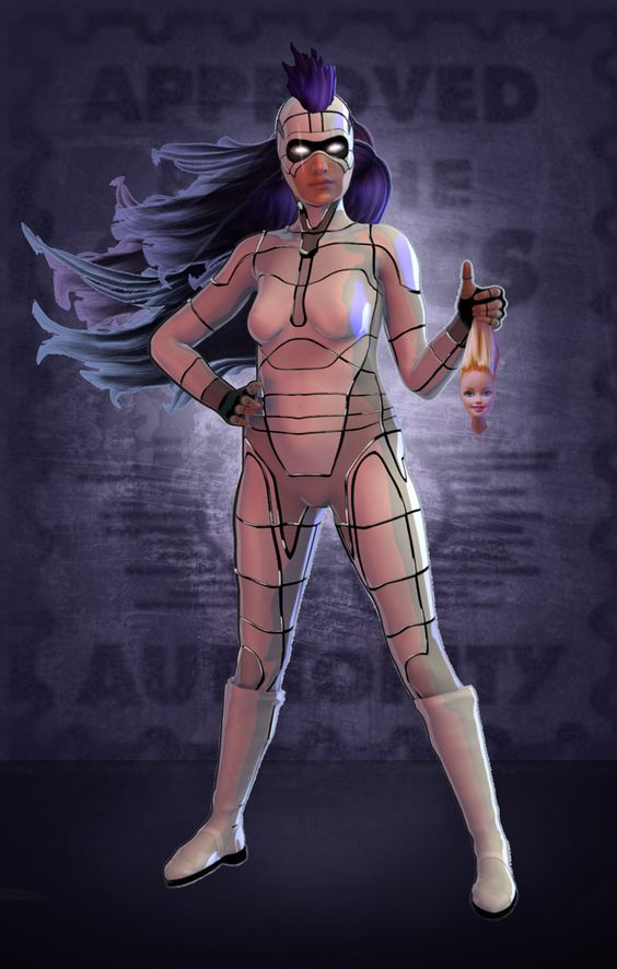 Infinite Monkeys entry to deviantART.com contest to create a female super hero with a normal body shape rather than the comic industry stereotype.