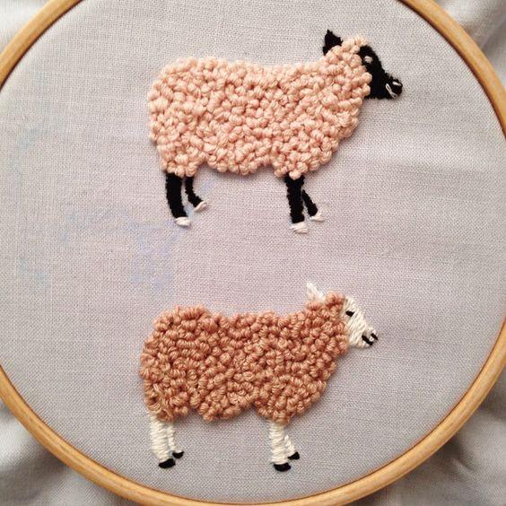 tuto punch needle mouton
