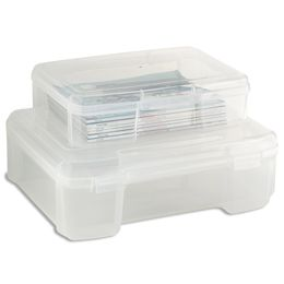 These are great for storing board games.  No more ratty boxes.