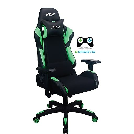 Staples Helix Gaming Chair With Cooling Technology Green 53210 At Staples In 2020 Gaming Chair Interior Design Guide Gamer Room Decor