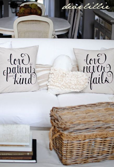"""Love"" pillows by Dear Lillie: Decor Ideas, Wedding Gift, Decorating Ideas, Pillow Covers, Dear Lillie, Valentines Pillows, Bedroom Ideas"