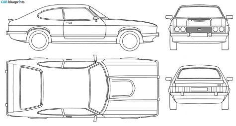 1977 Ford Capri Mk Iii Coupe Blueprint Ford Capri Blueprints Ford