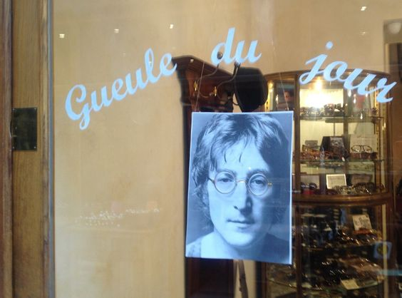 Gueule du jour : John Lennon  Lunettes : métal ronde