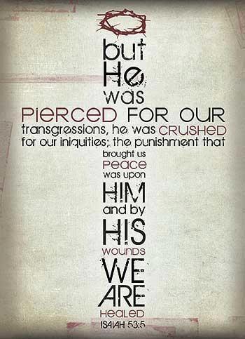 Good friday. Isaiah 53:3-7