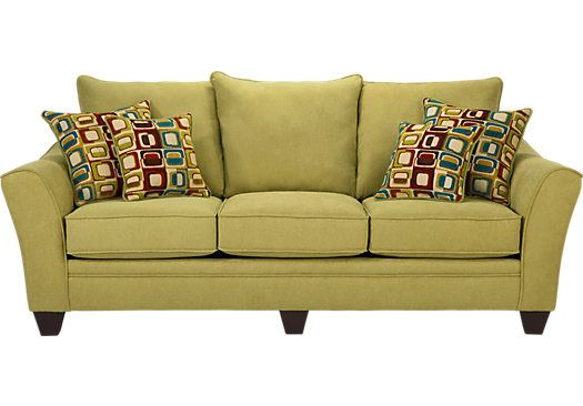 Shop for a santa monica green sofa at rooms to go find for Affordable furniture to go
