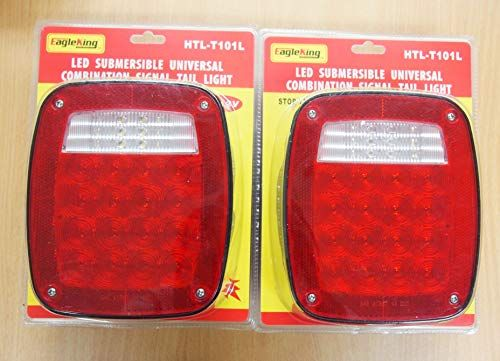 Amber TecNiq USA Made 3//4 LED Clearance Marker Bullet Grommet Lights P2 Rated 10 Pack