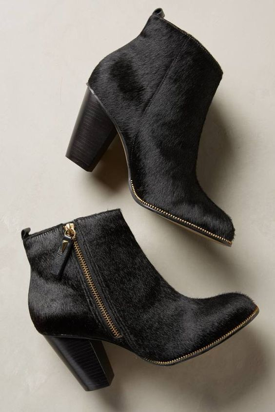 Klub Nico Calf Hair Booties  - obsessed! #anthrofave