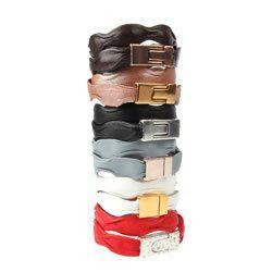 Wavy Leather Bracelets