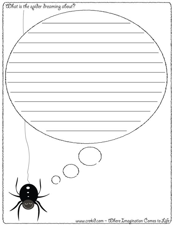 halloween writing template
