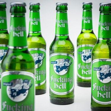 """Das """"Fucking Hell"""" Bier, dämonisch stark im Geschmack und mit teuflisch gutem Abgang. Prost, Halloween!"""
