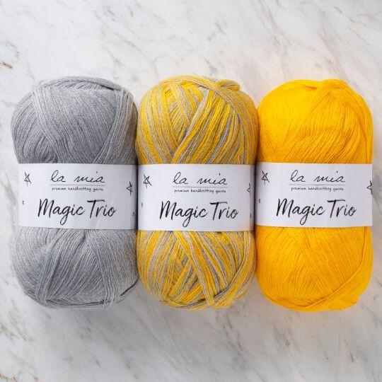 La Mia Magic Trio 3 Skein Set Yarn Content 100 Acrylic Ball Weight 100 G 3 5 Oz Yarn Weight 3 Light Dk Yarn Length 250 M 273 Yd La