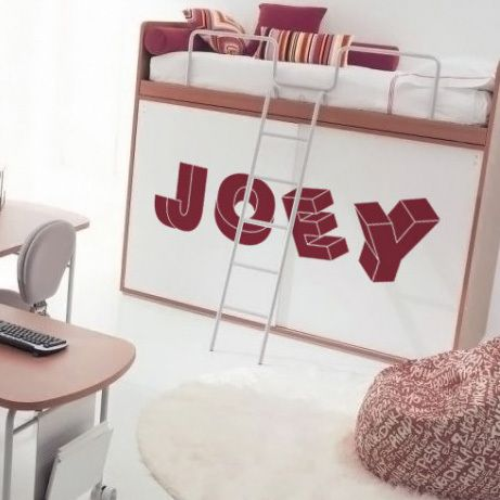 3D Letters Wall Decal | DecalMyWall.com
