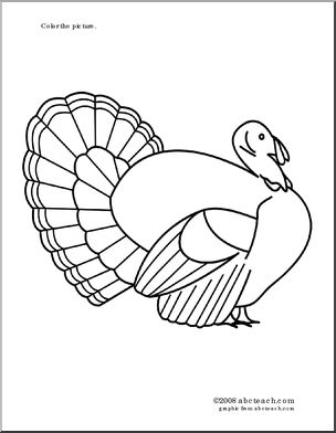Turkey Coloring Pages Thanksgiving And Coloring Pages On Pinterest