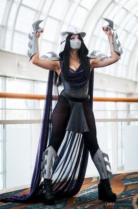 59 Homemade DIY Teenage Mutant Ninja Turtle Costumes   Big DIY IDeas-----OMG sexy Shredder! =)