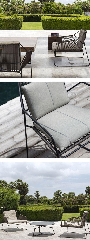 Oasiq Sandur Edelstahl Schnur Sessel Gartenmobel Minimalistische Dekoration Aussenmobel