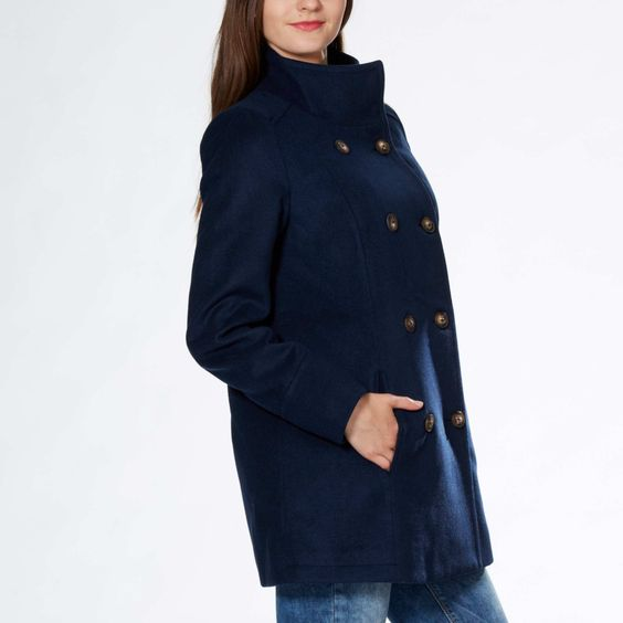 Manteau droit style officier…