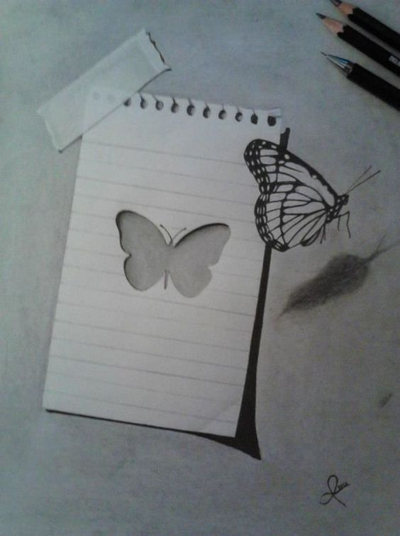 21. Giannis Anogianakis – Butterfly - It appears Giannis' butterfly escaped from the sheet! This 3D drawing really came to life.